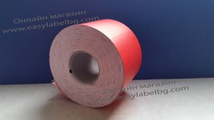 Етикети за стелажи на ролка, термодиректен картон, 70mm х 38mm, червени 1 000бр.