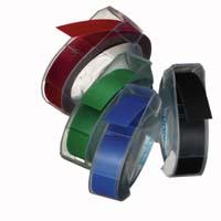 3D ЛЕНТА Dymo, 9mm X 3m, 4 броя, червена+синя+черна +зелена