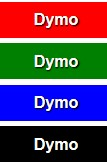 Dymo Embossing Tape, 9mm X 3m, 3 pcs