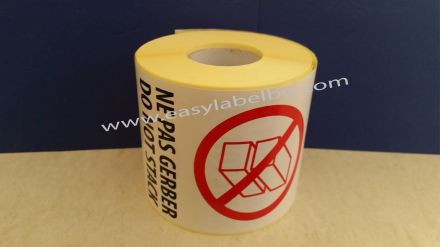 Логистичен етикет - NE PAS GERBER, DO NOT STACK, 92mm x 132mm, 500бр.