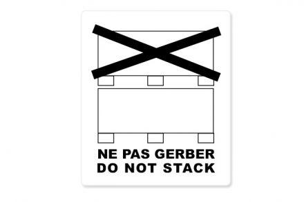 ИзиЛейбъл България-Логистичен етикет - NE PAS GERBER, DO NOT STACK, 92mm x 132mm, 500бр.
