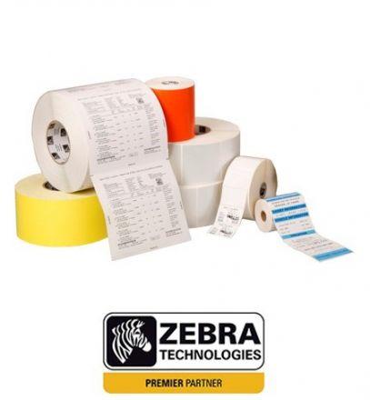 1 900бр. Оригинални Етикети Zebra 800294-605, логистични етикети с перфорация + Термотрансферна лента Zebra 2300 Wax 02300BK11030