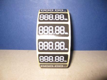 Етикети за цени от хартия, 5 цифри, 45mm x 20mm, 2 500бр. + безплатна доставка + подарък маркер за надписване
