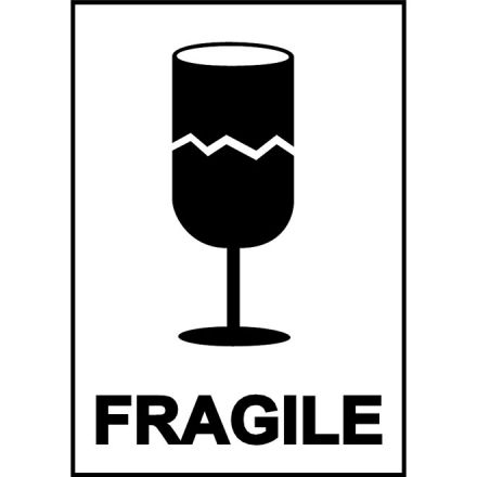 "Етикети ""Fragile"", 100mm X 70mm, 200бр."
