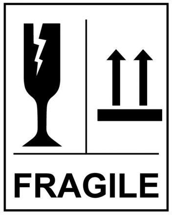 "Етикети ""Fragile"", 100mm x 70mm, 400бр."