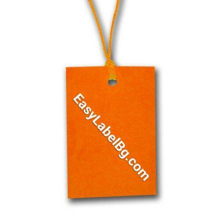 Картонен таг, 60mm x 40mm, 100бр., Оранжев