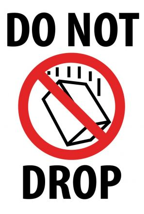 Логистичен етикет - DO NOT DROP,  92mm x 132mm, 300бр.