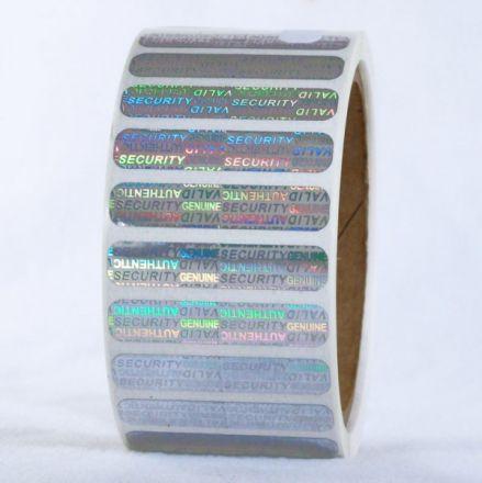 VOID холограмни защитни стикери, 32mm x 10mm /1/ 5 000, Ø40mm