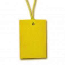 Eтикети за дрехи от картон, 60mm x 40mm, 100бр., жълт