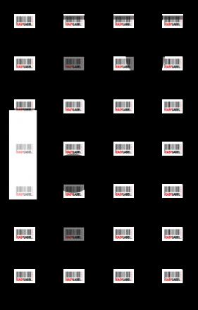 Прозрачна пластмасова планка за стойка Brother DK-11202, 62mm x 100mm