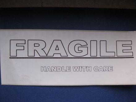 "Етикети ""Fragile"", 102mm x 300mm, 100бр."
