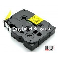 Brother TZ-631 Tape Black on Yellow Laminated 12mm, съвместим