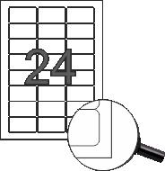 Самозалепващи етикети, 64,6x33,8mm, 100л. (2400бр.)