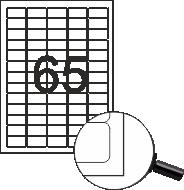Самозалепващи етикети, 64x34mm, 100л. (2400бр.)