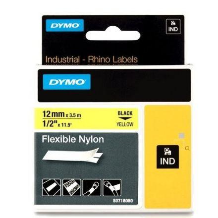 Dymo IND RhinoPRO 18490 -12mm X 3,5m,  жълт найлон