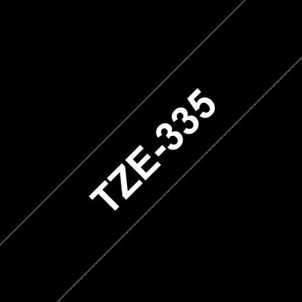 Съвместим Brother TZe-335 Tape White on Black Laminated 12mm