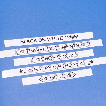 Съвместим Brother TZe-231 Tape Black on White Laminated 12mm