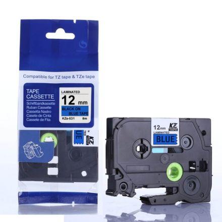 Съвместим Brother TZe-531 Tape Black on Blue Laminated 12mm