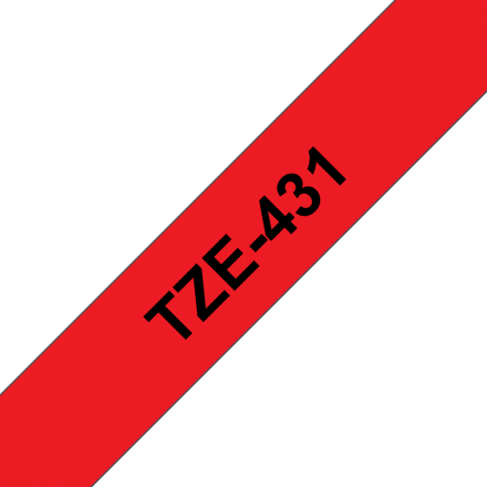 Съвместим Brother TZe-431 Tape Black on Red Laminated 12mm