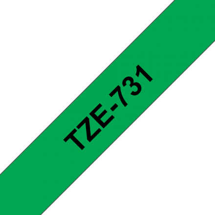 Съвместим Brother TZe-731 Tape Black on Green Laminated 12mm