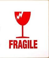 "Етикети ""Fragile"", 100mm X 70mm, 100бр."