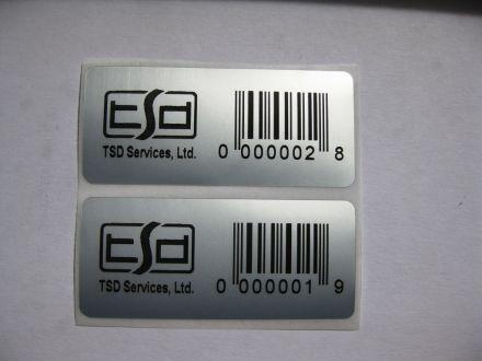 Самозалепващи етикети от полиестер (PET), 50mm X 22mm