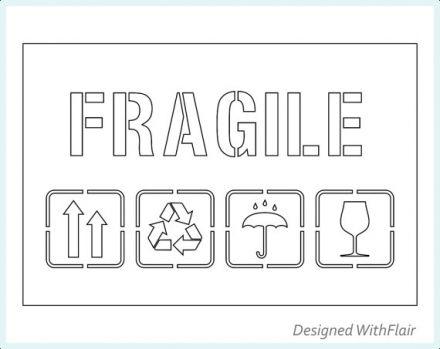 Етикети ЧУПЛИВО & FRAGILE, 102mm x 150mm, 200бр.