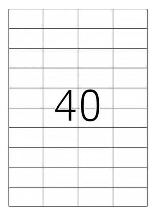 Самозалепващи етикети  TopStick, 52,5mm X 29,7mm