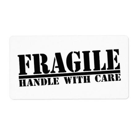 Етикети ЧУПЛИВО & FRAGILE, 102mm x 70mm, 400бр.