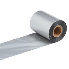 """Термотрансферна лента, резинова - RESIN, 40mm X 200m, шпула ф(1"""")25,4mm, IN, сребро"""