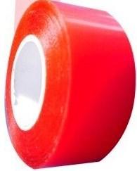 Червена стандартна самозалепваща се опаковъчна лента - тиксо, 48mm x 66m