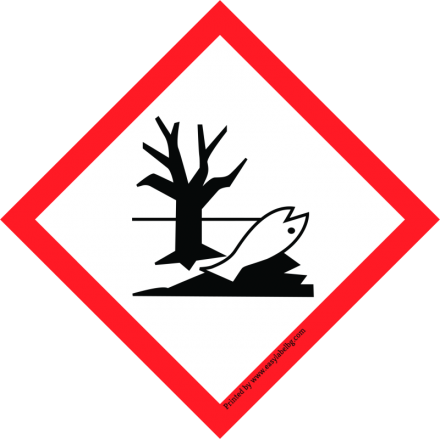 Етикети GHS - Пиктограма за опасност, хартия, 50mm x 50mm /1/ 500бр.
