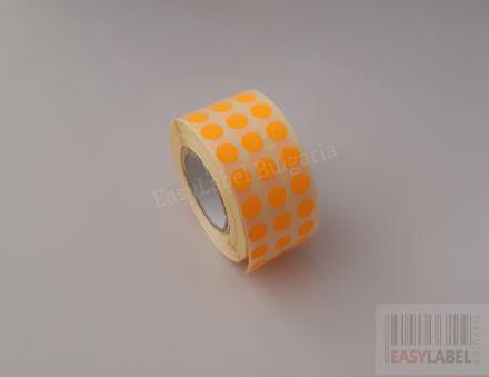 Цветни кръгли стикери за ОТК контрол - самозалепващи етикети на ролка, диаметър 10mm, 25 000 бр.